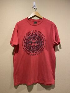 OBEY World Wide Domination Red Tee Size Large
