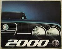ALFA ROMEO 2000 BERLINA Car Sales Brochure Feb 1973 GERMAN TEXT #732E149R