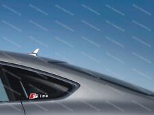 3 x Audi S-line Aufkleber für Seitenfenster A3 A4 A5 A6 Q5 Q7 RS Emblem Logo #57