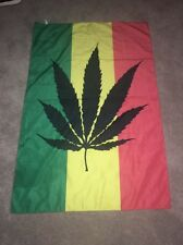 Marijuana Leaf flag 3'x5' banner Mary Jane Weed Pot Grass Hash Smoke