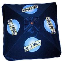 BLUE MOON 9 foot BEER UMBRELLA MARKET PATIO STYLE NEW HUGE