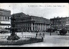"""BORDEAUX (33) TRAMWAY """"PETIT BEURRE LU"""" & ATTELAGE """"GLACIERES de BORDEAUX"""" 1924"""