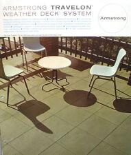 TRAVELON Weather Deck Tile Catalog ASBESTOS Flooring Felt 1960's Armstrong  Cork
