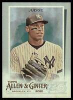 2020 Topps Allen and Ginter Hot Box Silver #13 Aaron Judge - New York Yankees