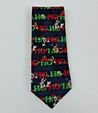 VTG 1998 Looney Tunes Christmas Holiday Men's Tie Necktie HO HO HO Bugs Bunny