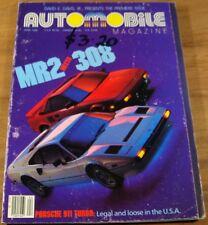 1986 AUTOMOBILE Magazine.First Issue.911 Porsche.1949 FERRARI 166MM.MR2.308