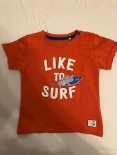 Staccato Jungen T-Shirt  Orange mit Like to Surf Größe 80