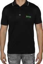 Hugo BOSS Men's Polo Shirt Pauletech Pro Short Sleeve 50388625 02  Black
