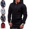 Mens Winter Hoodie Warm Zip Coat Jacket Hooded Sweatshirt Outwear Sweater Zipper