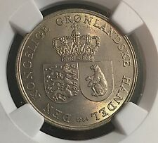 Greenland 1964 Krone NGC High Grade MS 63 & Low Mintage 110,000