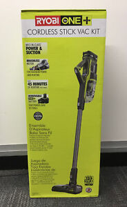Ryobi 18V One+ Cordless Stick Vac Kit P7181K NEW