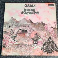 LP CARAVAN  IN THE LAND OF GREY AND PINK UK 1ST PRESS  RED/WHITE DERAM LABEL EX