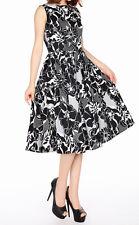 Chic Star black white sleeveless vintage style dress cotton spandex 16