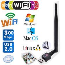 300Mbps USB2.0 WLAN Router Wireless Adapter LAN Netzwerkkarte Dongle mit Antenne