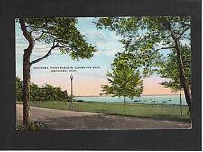 View of Escanaba Yacht Basin, Ludington Park, Michigan USA, Stamp/Postmark-1937