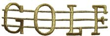 """#3043 5""""  Embroidery Iron On Gold Golf Applique Patch"""