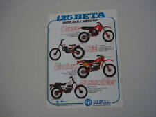 advertising Pubblicità 1981 BETA 125 CR/RCE/SCRAMBLER