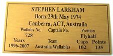 Rugby Union  STEPHEN LARKHAM Gold Sublimated Plaque