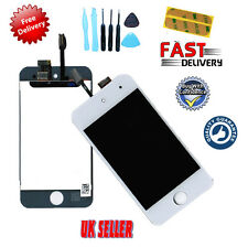 WHITE Digitiser + LCD Screen Assembly UK Seller FOR iPod Touch 4 4th Gen NEW