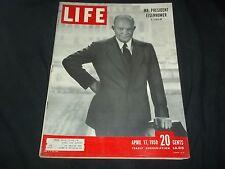 1950 APRIL 17 LIFE MAGAZINE - PRESIDENT EISENHOWER - NICE FRONT COVER - GG 111