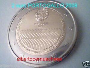 2 euro 2008 fdc Portogallo Portugal Португалия 葡萄牙 60 Diritti Uomo human rights