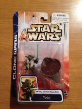 2003 Star Wars Clone Wars Army Of The Republic Yoda MOC Hasbro