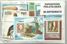 "Lot timbres thematique "" Expositions philateliques """