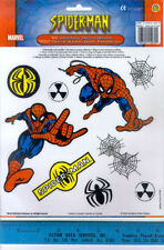 AMAZING SPIDERMAN window glass CLINGS room decor 9pcs Marvel superhero webs