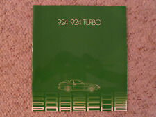 1982 Porsche 924 924 Turbo DELUXE Showroom Sales Brochure RARE!! Awesome L@@K