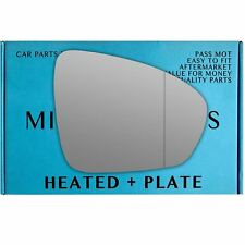 Right side Wide Angle mirror glass for Renault Megane mk4 2016-On heated plate
