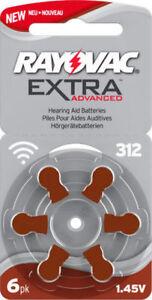 Rayovac Hörgerätebatterien Hörgerät Knopfzelle 312 PR 41 312 A 312 H 312AE HA312