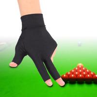 Tbest Snooker Billiard Pool Gloves Left Hand, 3 Fingers Billiard Glove Snooker