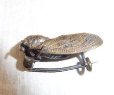 Ancienne broche, abeille, en métal argenté