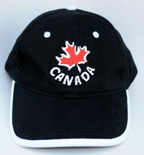CANADA Adjustable Strapback Structured Black Baseball Cap Hat