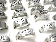wholesale lot 36pcs mixed styles women's stainless steel fashion jewelry rings
