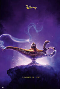 """Aladdin - Disney Movie Poster (Teaser - Choose Wisely / Lamp) (Size: 24 X 36"""")"""