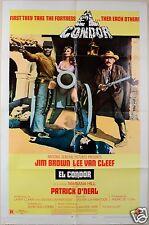 1970 EL CONDOR ORIGINAL 1SH ACTION WESTERN MOVIE POSTER VAN CLEEF JIM BROWN