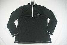 NY Jets Cutter & Buck 1/2 Zip Shirt Women XL Black NEW