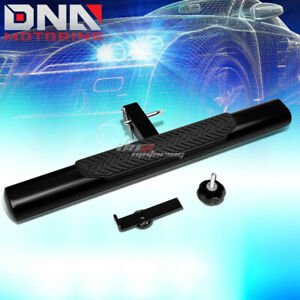 """35"""" x 4"""" OVAL 2"""" RECEIVER BLACK TRAILER TOWING/HITCH STEP BAR/BUMPER GUARD+PIN"""