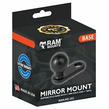 Ram Mounts Motorbike Mirror / Pinchbolt Frame Mount 1 Inch Ball Camera