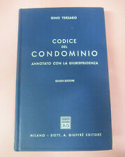 book LIBRO Gino Terzago CODICE DEL CONDOMINIO Annotato con giurisprudenza (L42)