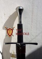 Medieval Knight Sword Peened full Tang Spring Handmade Functional SCA armor