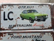 LC GTR XU1 Torana HOLDEN Number Plate Style 3D Tin Metal Sign NEW Man Cave
