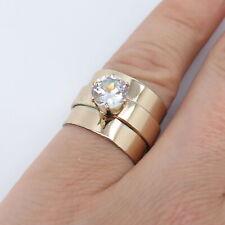 Vintage Gold Tone Rings w / Rhinestone