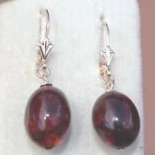 ANTIQUE INCREDIBLE  14K SOLID GOLD TURKISH AMBER LEVER BACK BALL EARRINGS