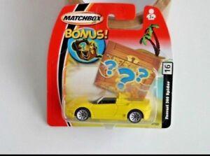 Ferrari 360 Spider Matchbox No 16 Diecast Yellow On Short Card New