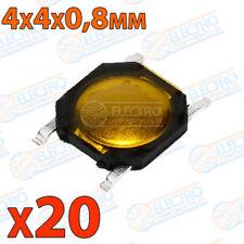 20x Micropulsador SMD 4x4x0,8 0.8 pulsador NA NO contacto abierto switch 4 pines