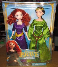 Disney BRAVE Pixar Princess Merida & Queen Elinor Doll set Mattel Barbie 2011