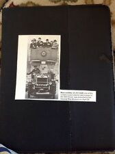 M6-3 Ephemera 1970 Picture Ww1 London Omnibus Delivered To Imperial War Museum