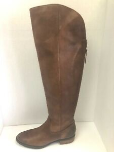 Arturo Chiang  Brown Leather Tall Riding Boots Size 8.5 M